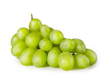 Bunch of ripe green grapes Royalty Free Stock Images