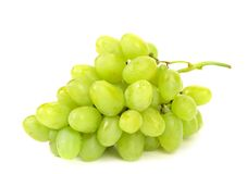 Bunch of ripe and juicy green grapes Royalty Free Stock Photos