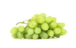 Bunch of ripe and juicy green grapes Stock Photos