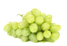 Bunch of ripe and juicy green grapes. Stock Image