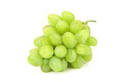 Bunch of ripe and juicy green grapes Royalty Free Stock Images