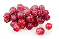 Bunch of ripe pink grapes isolated Royalty Free Stock Image