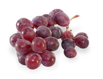 Bunch of ripe red grapes isolated Stock Photo