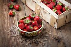 Bunch of ripe strawberrie. Stock Image