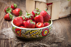 Bunch of ripe strawberrie. Stock Photography