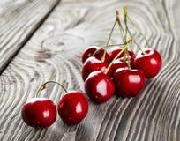 Bunch of ripe sweet cherries royalty free stock image