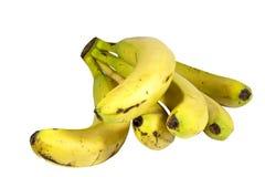 Bunch of Ripe Yellow Bananas on White Background Stock Photos