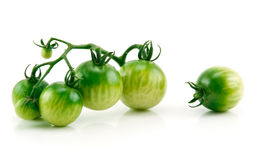 Bunch of Ripe Yellow and Green Tomatoes Isolated Royalty Free Stock Images
