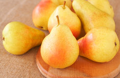 Bunch of ripe yellow pears Royalty Free Stock Photo