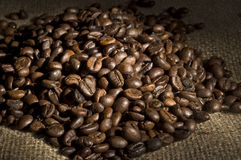 Bunch of roasted coffee Royalty Free Stock Photography