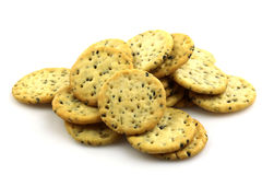 Bunch of rosemary cookies stock image