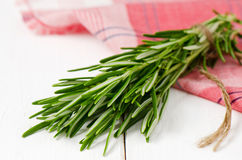 Bunch of rosemary. Organic bunch of fresh rosemary on the table Royalty Free Stock Images