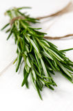Bunch of rosemary. Organic bunch of fresh rosemary on the table Stock Photo