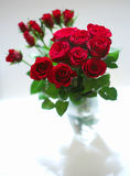 Bunch of roses. Bunch of red roses in the bowl stock image