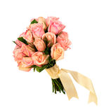 Bunch of roses isolated background Royalty Free Stock Photography