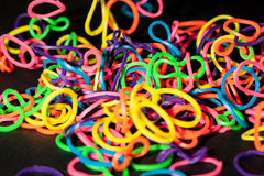 Bunch of Rubberbands Royalty Free Stock Photography