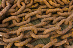Bunch of Rusting Steel Chains Stock Photos