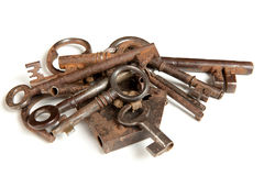 Bunch of rusty keys Royalty Free Stock Image