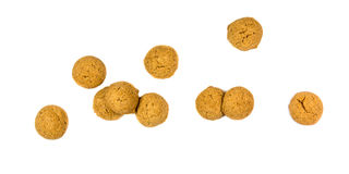 Bunch of scattered ginger nuts from above Stock Photography