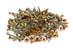 Bunch of screws Stock Photos