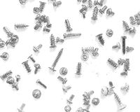 A bunch of screws and bolts drawn in pencil Royalty Free Stock Image