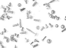 A bunch of screws and bolts drawn in pencil Stock Image