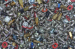 Bunch of  screws bolts and nuts Royalty Free Stock Images