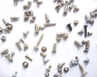 A bunch of screws and bolts Royalty Free Stock Photography