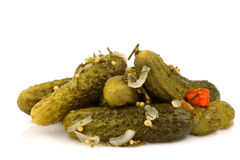 Bunch of seasoned pickles Royalty Free Stock Photography
