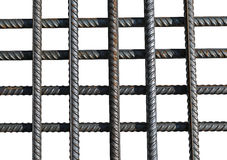 Bunch of several reinforcement bars isolated Royalty Free Stock Photography