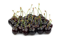 Bunch of shiny fresh black sweet cherries Royalty Free Stock Photo