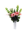Bunch of silk flowers. Royalty Free Stock Photo
