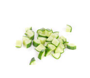 Bunch of sliced cucumber. Royalty Free Stock Photos