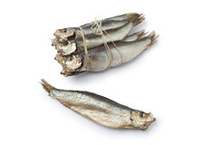 Bunch of smoked pearlsides fishes Stock Photography