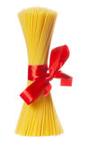 Bunch of spaghetti. Isolated over white background Stock Images