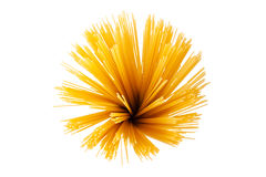 Bunch of spaghetti. Isolated on white background Royalty Free Stock Photography