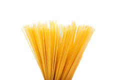 Bunch of spaghetti. Isolated on white background Royalty Free Stock Photo