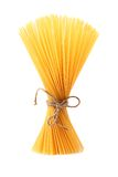 Bunch of spaghetti  isolated on white background. Bunch of spaghetti third number isolated on white background Stock Photos