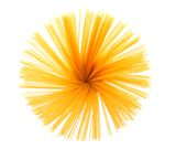 Bunch of spaghetti isolated on white background Stock Image