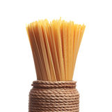 Bunch of spaghetti pasta Stock Images
