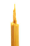 Bunch of spaghetti pasta. Isolated on white background Royalty Free Stock Photo