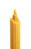 Bunch of spaghetti pasta. Isolated on white background Royalty Free Stock Image