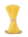 Bunch of spaghetti at sack isolated Royalty Free Stock Photo