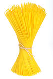 Bunch of spaghetti tied up with ribbon Stock Photography