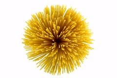 Bunch of spaghetti a top view Stock Photos