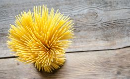 A bunch of spaghetti: top view Stock Photography