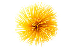 Bunch of spaghetti on white Stock Images
