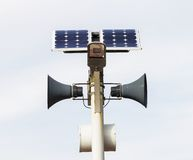 Bunch of speakers and solar cells Stock Photos