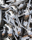 Spoons. Bunch of spoons at street market Stock Photography