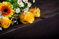 Bunch of spring flowers Stock Images